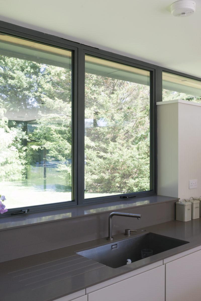 grey Alitherm casement windows
