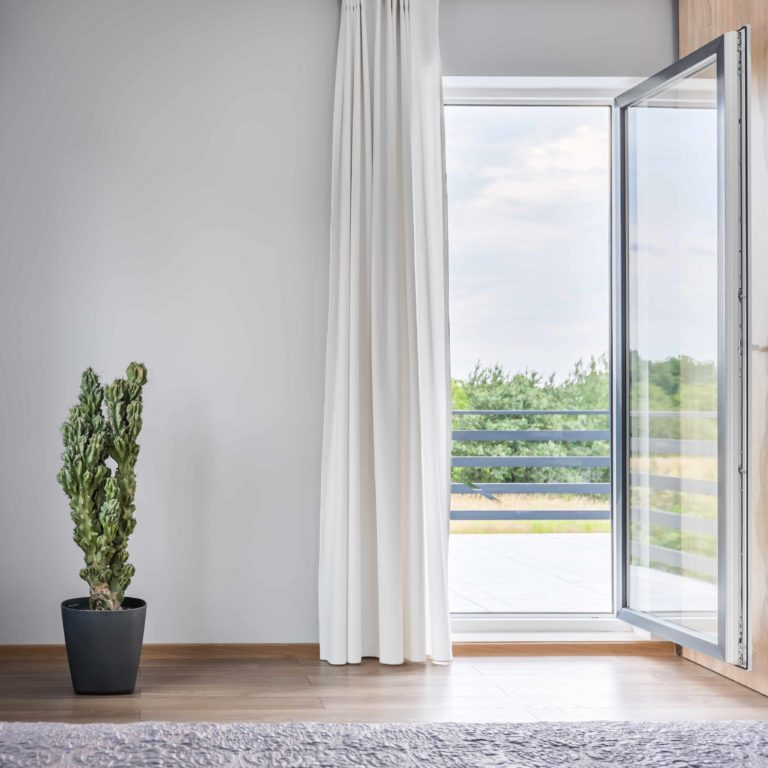 white Alitherm single doors