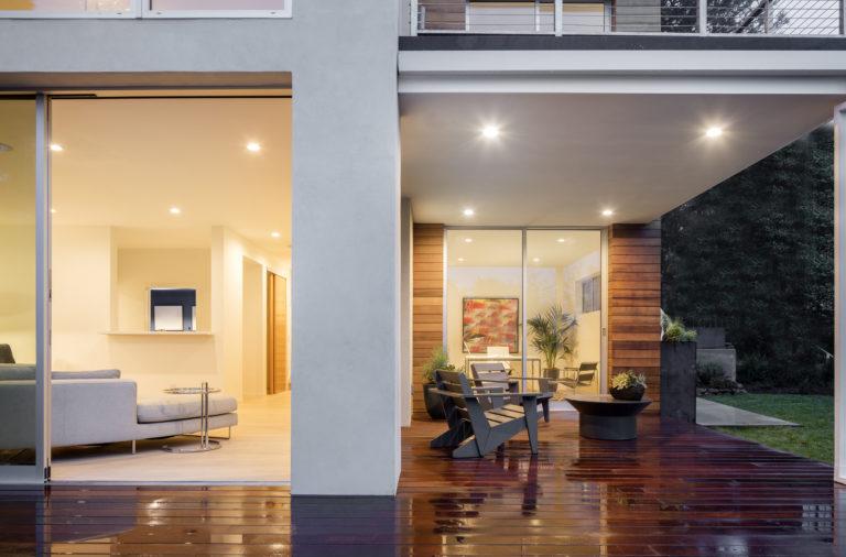 contemporary house with Origin OS-20 Artisan door