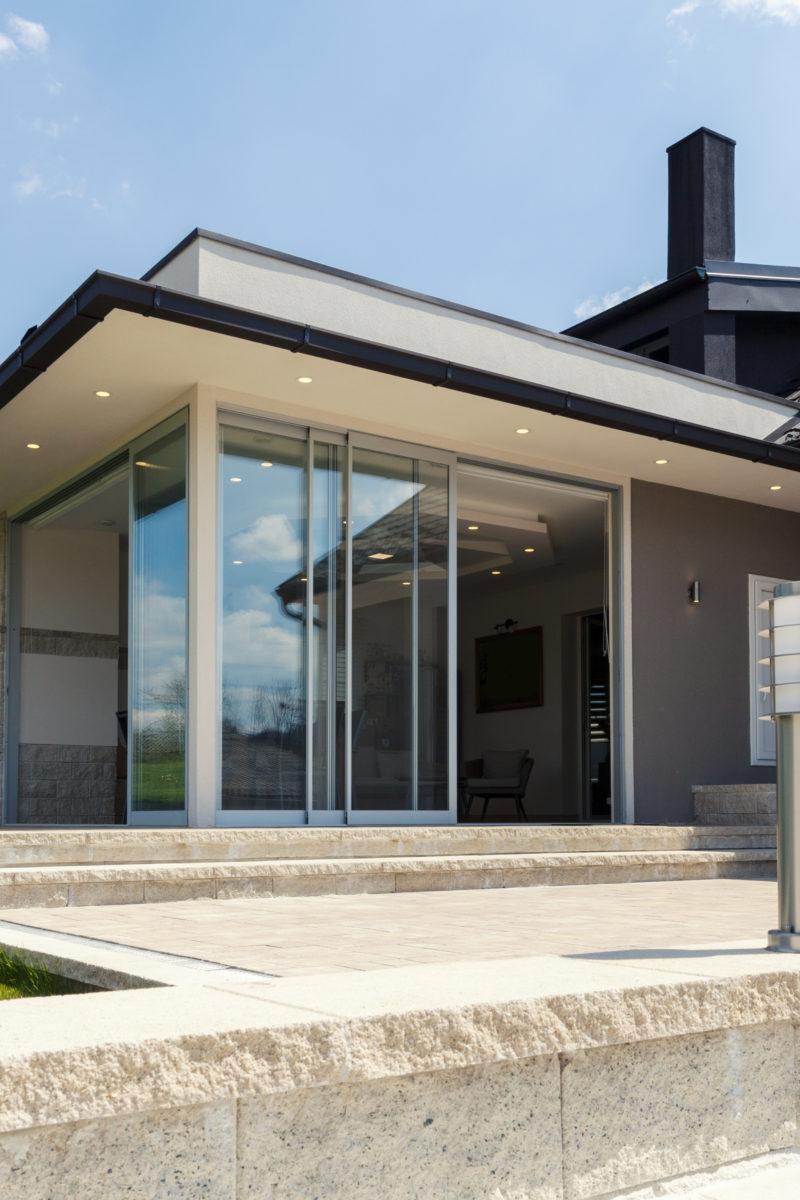 sliding patio doors to a new extension with Origin OS-20 Artisan