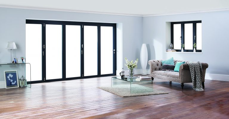 Origin OB-49 Bifolding Doors in extension