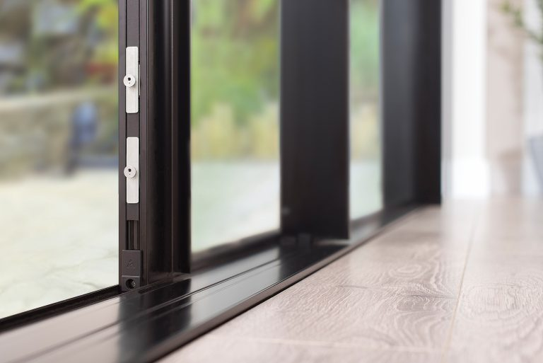 low track threshold on steel replacement sliding doors