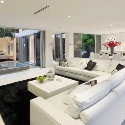 bifolding doors in a new home