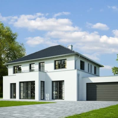 modern house with steel replacement sliding doors