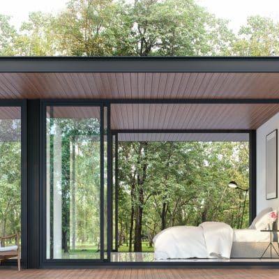 Schuco doors in garden extension
