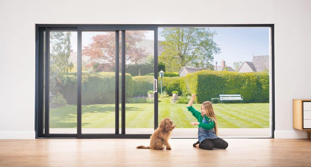 origin sliding doors showing the classically styled model