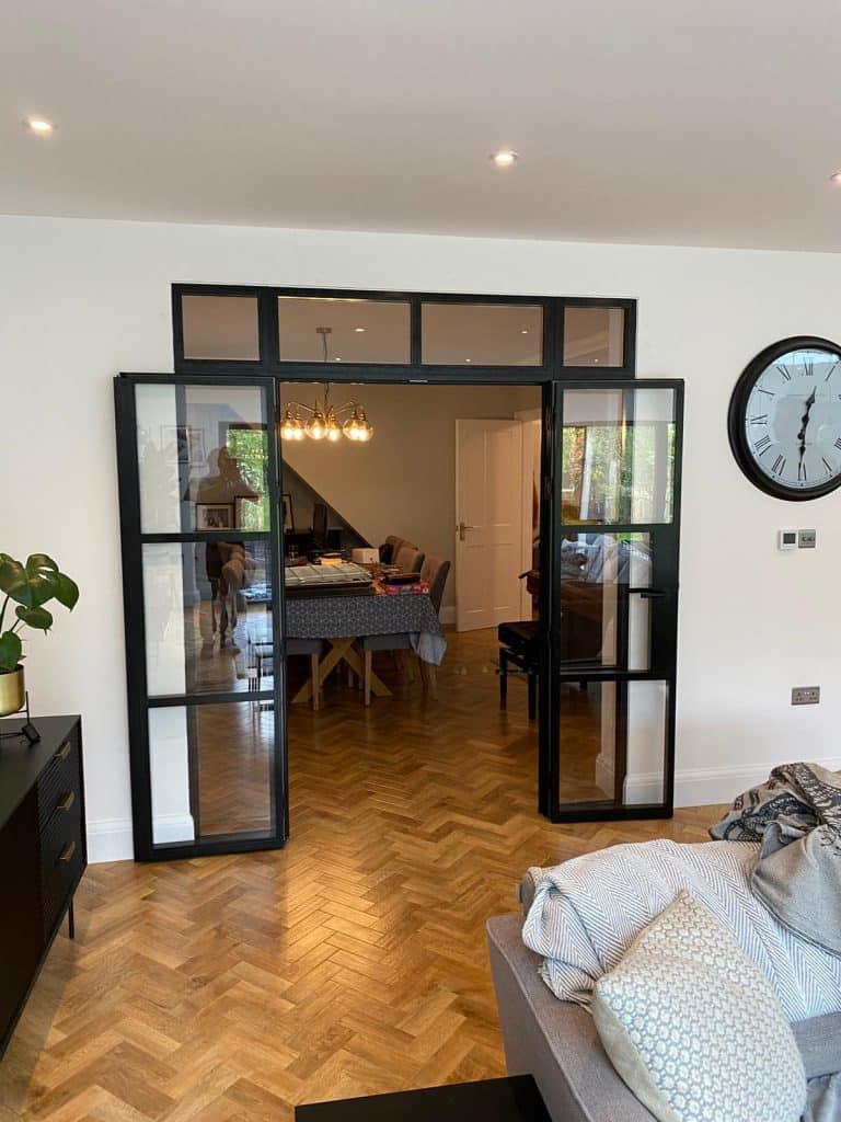 aluco steel-look internal doors in a london house