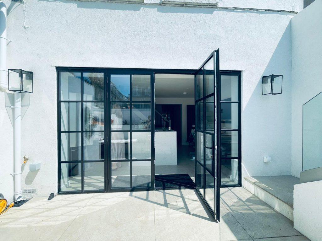 steel look French doors in tunbridge wells in a period property