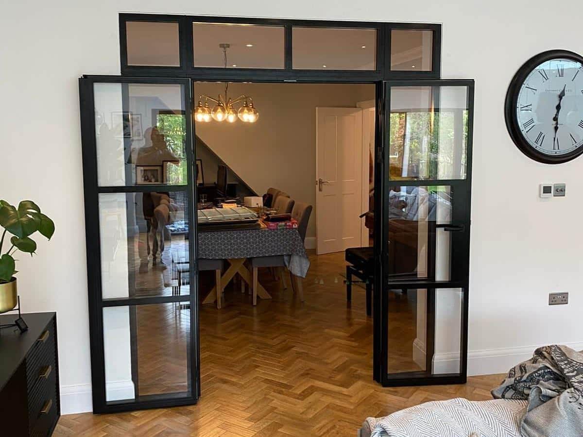 aluco steel look interior doors in a London house
